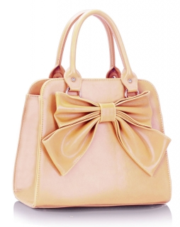 Kabelka LS005A1- Nude Bow Tote Bag