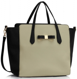 Kabelka LS00402 - Black / Grey Women's Large Tote Bag